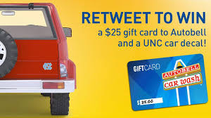 Unc Tar Heels On Twitter Retweet To Win A 25 Autobellcarwash Gift Card A Unc Car Decal We Ll Pick A Random Winner By 8p Http T Co Agas9yaxv7