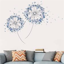 Wall Stickers Blue Dandelion Fairy Tail Fallout Flower Wall Stickers Freddy Mercury Bedroom Decor Accessories Azulejo Adhesivo Wall Stickers Aliexpress