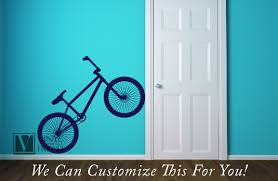 Bmx Road Bicycle Wall Vinyl Decal Graphic A Sports Wall Decor For Bikers And Bike Fans Various Sizes Xs Xl 2461