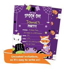 Halloween 2 Tarjetas De Invitacion Para Cumpleanos Con U S 56 00