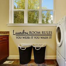 Laundry Room Wall Decal Laundry Room Rules Decal Bedroom Etsy