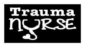 Trauma Nurse 4x8 Hospital Scrubs Stethoscope Therapy Car Window Decal Sticker Ebay