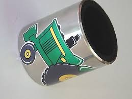 Massey Ferguson Mf 1155 Tractor Magnetic Stainless Steel Cup Holder Vinyl Decal