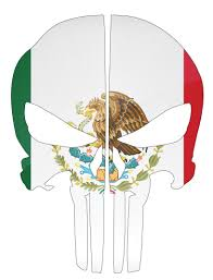 Mexico Flag Punisher Skull Reflective Rear Helmet Decal Police Fire Ems Viny Graphics Stickers Decals Dkedecals
