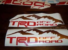 Trd Off Road Bedside Window Sticker Vinyl Decal Toyota Racing Tundra Tacoma