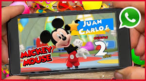 Mickey Mouse Video Invitacion Cumpleanos Whatsapp Youtube En