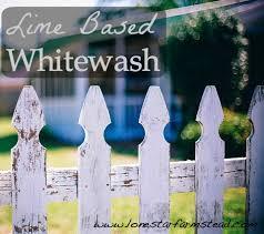 Lime Based Whitewash Lone Star Farmstead
