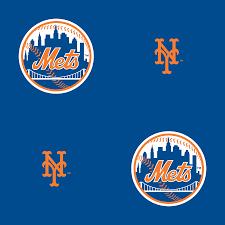 new york mets logo pattern blue