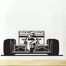 Formula 1 One Bolid Sports Race Car Wall Decal Art Decor Sticker Vinyl Wall Stickers For Boys Bedroom Baby Wall Decals Mural 689 Vinyl Wall Stickers Wall Stickerstickers For Aliexpress