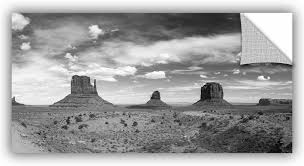 East Urban Home Monument Valley Daytime Panoramic Removable Wall Decal Wayfair