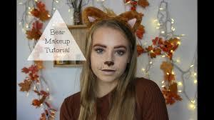 easy halloween makeup teddy bear