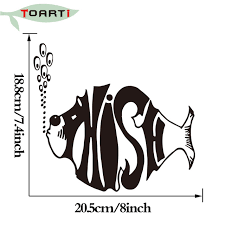 20 5 18 8 Cm Lid Styles Phish Fish Decal For Car Bumper And Hood Funny Sticker Car Styling Self Adhesive Truck Decal Stickers Decals For Cars Truck Decalscar Styling Aliexpress