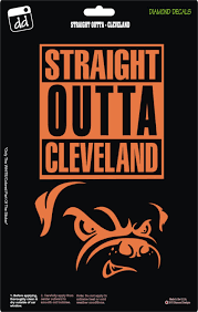 Straight Outta Cleveland Browns Nfl Football Team Decal Sticker Car Truck Laptop Suv Window Cleveland Browns Football Cleveland Browns Wallpaper Team Decal