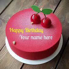 cherry flavor birthday wishes cake for friend
