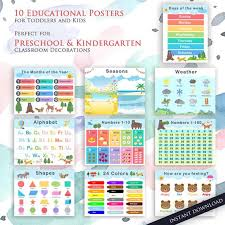 Kids Learning 10 Educational Posters For Kids Room Perfect Etsy