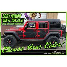 Amazon Com Vinyl Decal Protection Panel Kit 07 18 Jk 2 Door Or 4 Door Compatible With Wrangler Jeep 4 Door Matte Black Automotive