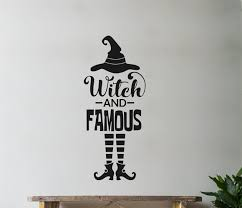 The Holiday Aisle Witch And Famous Hat Legs Shoes Vinyl Words Wall Decal Wayfair