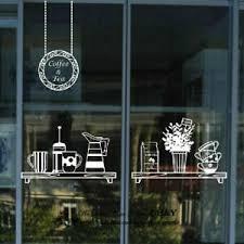 Coffee Cafe Restaurant Shop Wall Stickers Window Sign Decor Vinyl Decal Deco Ebay