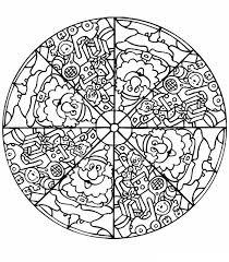 Kids N Fun Kleurplaat Mandala Mandala Kerstman