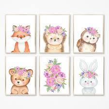 Forest Animals Baby Room Decor Print Bear Owl Tribal Woodland Etsy In 2020 Animal Baby Room Nursery Animal Prints Baby Animal Prints