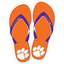 Sds Design Clemson Tigers 6 Flip Flop Decal Mr Knickerbocker