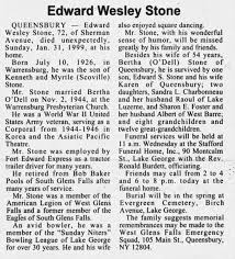 Edward Wesley Stone Obituary - Newspapers.com