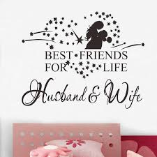 Best Friends For Life Husband Wife Wall Sticker Living Room Decor Quotes Wall Stickers Bedroom Wall Decals For Bedroom