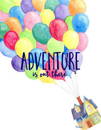 adventure is out there watercolor painting art print disney up