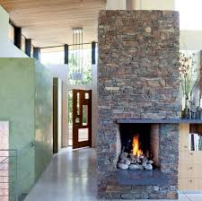 rustic and modern fireplace