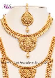 22k effect indian bridal set bgwn10054