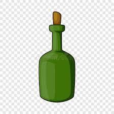 retro green wine bottle icon cartoon