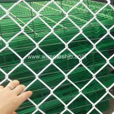 White Coulor Vinyl Coated Chain Link Fence Fabric China Manufacturer