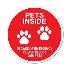 Pets Inside Sticker Decal Window Sign Graphic Bin Car Safety Ebay