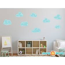 Sunny Decals Hand Drawn Cloud Fabric Wall Decal Wayfair