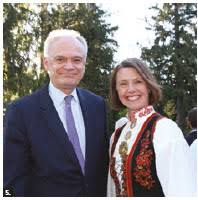 On the occasion of Norway's national day, Norwegian Ambassador Anne Ovind  and her husband, Tom, hosted