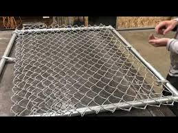 How To Build A Chain Link Gate Residential 4x3 Youtube