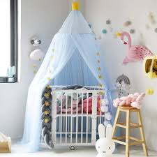 Jolitac Princess Bed Canopy For Kids Room Decor Round Lace Mosquito Net Play Tent Baby Bed Canopys Yarn Girls Dome Netting Curtains Gir