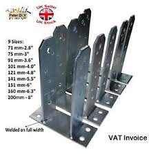 Heavy Duty Galvanised Tt Type Post Foot Fence Foot Anchors Bolt Thick 5mm Ebay