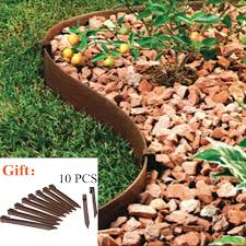 10ft Raised Garden Bed Landscape Edging Diy Lawn Edge Grass Border Yard Backyard Fence Plant Fencing 10 Pins Walmart Canada