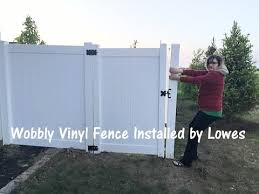 Wobbly Lowes Vinyl Fence Youtube