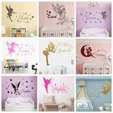 Fairy Stars Personalised Girls Room Decal Custom Name Magical Angel Wall Sticker For Nursery Girls Baby Kids Child Bedroom Decor Buy At The Price Of 1 63 In Aliexpress Com Imall Com