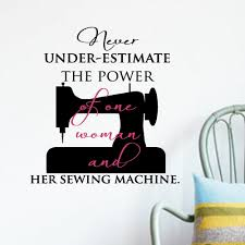 Sewing Machine Wall Decal Trading Phrases