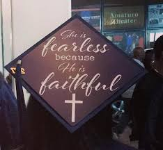psalms grad cap ideas that give thanks to the big man upstairs
