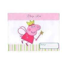 Combo 10 thiệp mời sinh nhật heo Peppa - Thiệp - Bưu ảnh Tác giả ...