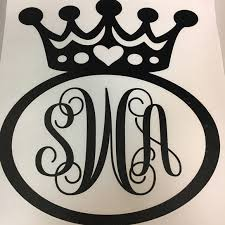Megan S Monograms Other Yeti Cup Princess Monogram Decal Poshmark