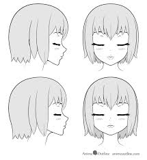 draw anime kissing lips face tutorial