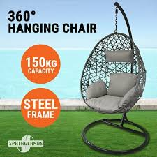 rattan garden weave egg chair w cushion