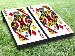 Poker Playing Card Vinyl Cornhole Bag Toss Game Board Wraps Sticker Decal Set Cornhole Bag Toss