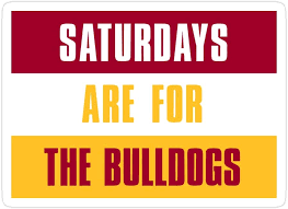 Amazon Com Creamrinhz 3 Pcs Pack Saturdays Are For The Bulldogs Ferris State University 3x4 Inch Die Cut Stickers Decals For Laptop Window Car Bumper Helmet Water Bottle Home Kitchen