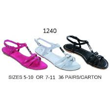 36 Units Of Ladies Sandal With Metal Decal Women S Flip Flops At Alltimetrading Com